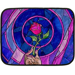 Enchanted Rose Stained Glass Fleece Blanket (mini) by Onesevenart