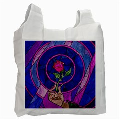 Enchanted Rose Stained Glass Recycle Bag (two Side)  by Onesevenart