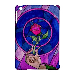 Enchanted Rose Stained Glass Apple Ipad Mini Hardshell Case (compatible With Smart Cover) by Onesevenart