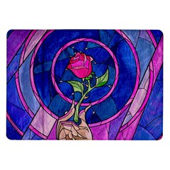 Enchanted Rose Stained Glass Samsung Galaxy Tab 10 1  P7500 Flip Case by Onesevenart