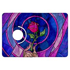 Enchanted Rose Stained Glass Kindle Fire Hdx Flip 360 Case by Onesevenart