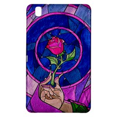 Enchanted Rose Stained Glass Samsung Galaxy Tab Pro 8 4 Hardshell Case by Onesevenart