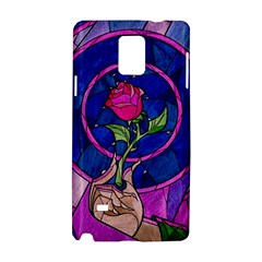 Enchanted Rose Stained Glass Samsung Galaxy Note 4 Hardshell Case by Onesevenart