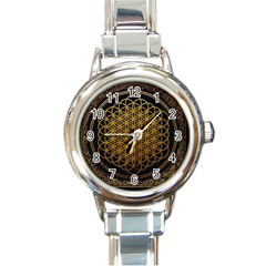 Bring Me The Horizon Cover Album Gold Round Italian Charm Watch by Onesevenart