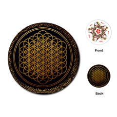 Bring Me The Horizon Cover Album Gold Playing Cards (round)  by Onesevenart
