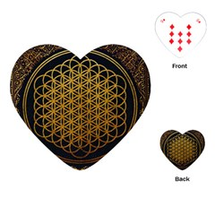 Bring Me The Horizon Cover Album Gold Playing Cards (heart)  by Onesevenart