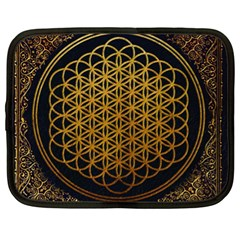 Bring Me The Horizon Cover Album Gold Netbook Case (xl)  by Onesevenart
