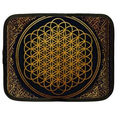 Bring Me The Horizon Cover Album Gold Netbook Case (xxl)  by Onesevenart