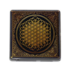 Bring Me The Horizon Cover Album Gold Memory Card Reader (square) by Onesevenart