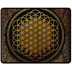 Bring Me The Horizon Cover Album Gold Fleece Blanket (medium)  by Onesevenart