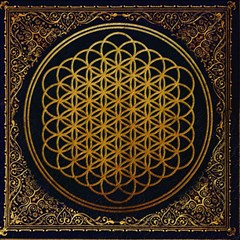 Bring Me The Horizon Cover Album Gold Magic Photo Cubes by Onesevenart