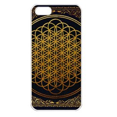 Bring Me The Horizon Cover Album Gold Apple Iphone 5 Seamless Case (white) by Onesevenart