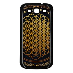 Bring Me The Horizon Cover Album Gold Samsung Galaxy S3 Back Case (black) by Onesevenart