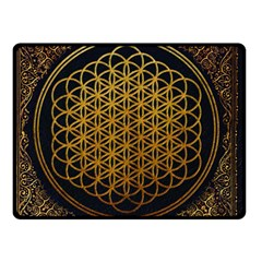 Bring Me The Horizon Cover Album Gold Double Sided Fleece Blanket (small)  by Onesevenart