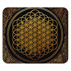 Bring Me The Horizon Cover Album Gold Double Sided Flano Blanket (small)  by Onesevenart