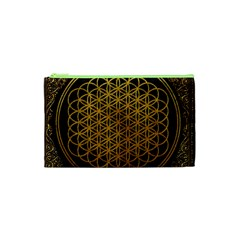 Bring Me The Horizon Cover Album Gold Cosmetic Bag (xs) by Onesevenart