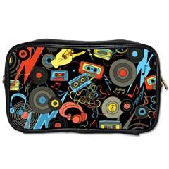 Music Pattern Toiletries Bags by Onesevenart