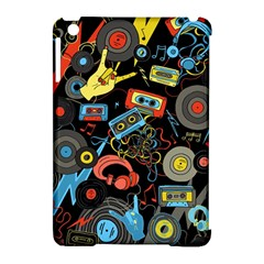 Music Pattern Apple Ipad Mini Hardshell Case (compatible With Smart Cover) by Onesevenart