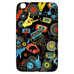 Music Pattern Samsung Galaxy Tab 3 (8 ) T3100 Hardshell Case  by Onesevenart