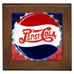 Pepsi Cola Framed Tiles by Onesevenart