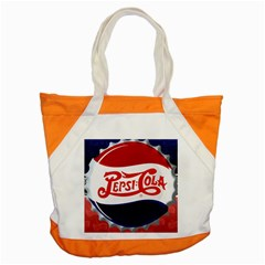 Pepsi Cola Accent Tote Bag by Onesevenart