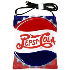 Pepsi Cola Shoulder Sling Bags by Onesevenart