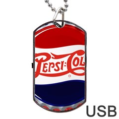 Pepsi Cola Dog Tag Usb Flash (one Side) by Onesevenart