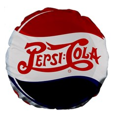 Pepsi Cola Large 18  Premium Round Cushions by Onesevenart