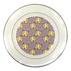 Corgi Pattern Porcelain Plates by Onesevenart