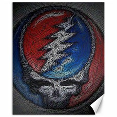 Grateful Dead Logo Canvas 16  X 20   by Onesevenart