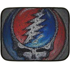 Grateful Dead Logo Fleece Blanket (mini) by Onesevenart