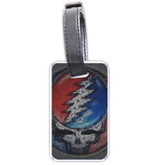 Grateful Dead Logo Luggage Tags (one Side)  by Onesevenart