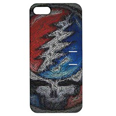 Grateful Dead Logo Apple Iphone 5 Hardshell Case With Stand by Onesevenart