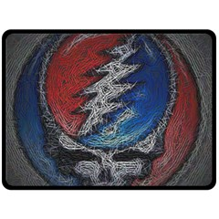 Grateful Dead Logo Double Sided Fleece Blanket (large)  by Onesevenart
