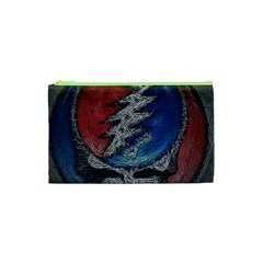 Grateful Dead Logo Cosmetic Bag (xs) by Onesevenart