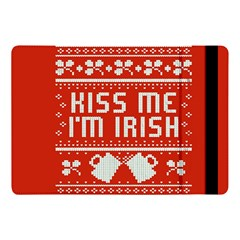 Kiss Me I m Irish Ugly Christmas Red Background Apple Ipad Pro 10 5   Flip Case by Onesevenart