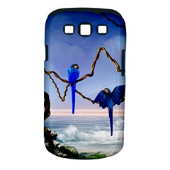 Wonderful Blue  Parrot Looking To The Ocean Samsung Galaxy S Iii Classic Hardshell Case (pc+silicone) by FantasyWorld7