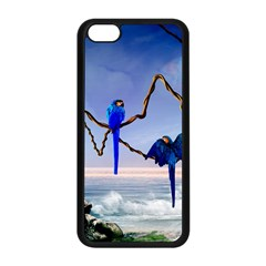 Wonderful Blue  Parrot Looking To The Ocean Apple Iphone 5c Seamless Case (black) by FantasyWorld7