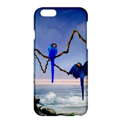 Wonderful Blue  Parrot Looking To The Ocean Apple Iphone 6 Plus/6s Plus Hardshell Case by FantasyWorld7