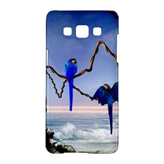 Wonderful Blue  Parrot Looking To The Ocean Samsung Galaxy A5 Hardshell Case  by FantasyWorld7