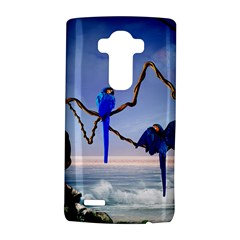 Wonderful Blue  Parrot Looking To The Ocean Lg G4 Hardshell Case by FantasyWorld7