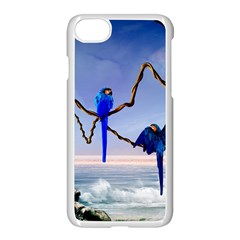 Wonderful Blue  Parrot Looking To The Ocean Apple Iphone 7 Seamless Case (white) by FantasyWorld7
