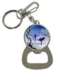 Wonderful Blue  Parrot Looking To The Ocean Bottle Opener Key Chains by FantasyWorld7
