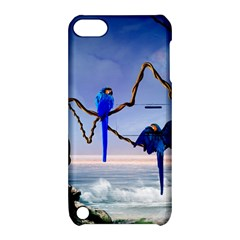 Wonderful Blue  Parrot Looking To The Ocean Apple Ipod Touch 5 Hardshell Case With Stand by FantasyWorld7