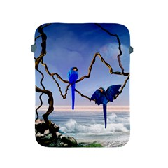 Wonderful Blue  Parrot Looking To The Ocean Apple Ipad 2/3/4 Protective Soft Cases by FantasyWorld7