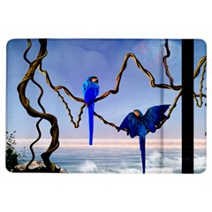 Wonderful Blue  Parrot Looking To The Ocean Ipad Air Flip by FantasyWorld7