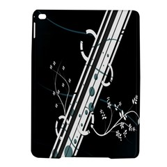 Line Light Leaf Flower Floral Black White Beauty Polka Ipad Air 2 Hardshell Cases by Mariart