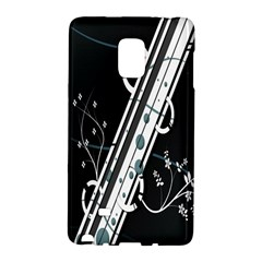 Line Light Leaf Flower Floral Black White Beauty Polka Galaxy Note Edge by Mariart