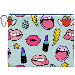 Lipstick Lips Heart Valentine Star Lightning Beauty Sexy Canvas Cosmetic Bag (xxxl) by Mariart