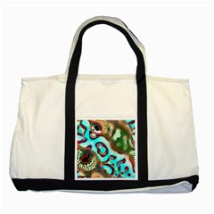 Multiscale Turing Pattern Recursive Coupled Stone Rainbow Two Tone Tote Bag by Mariart